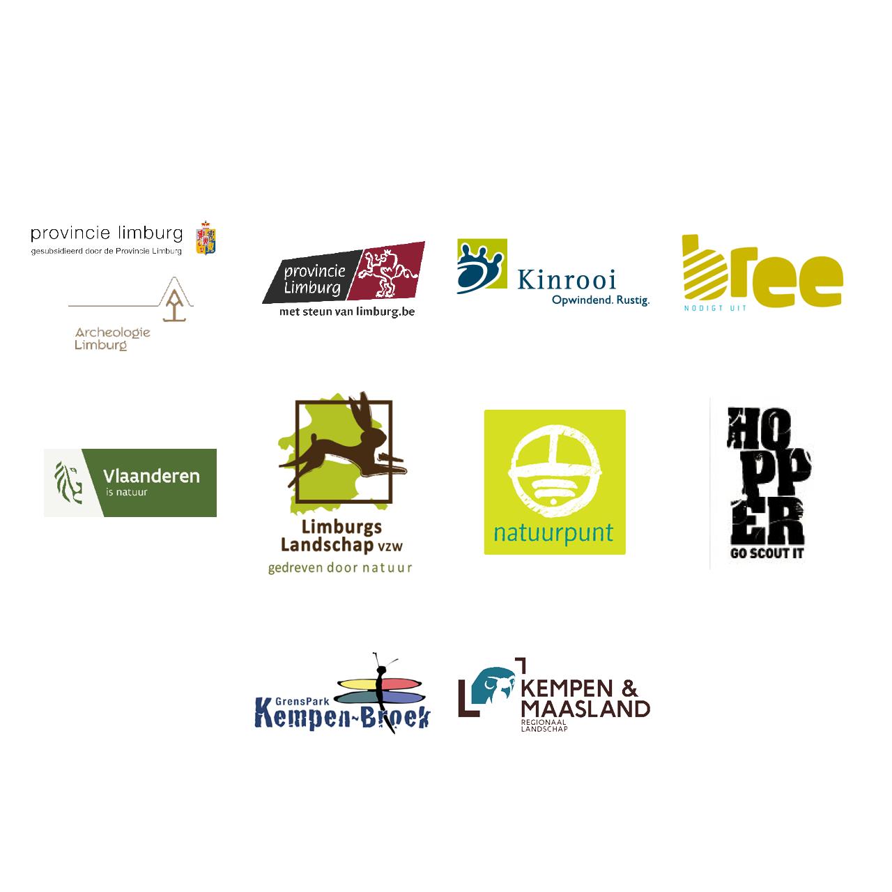 Paneel met logo's van de partners