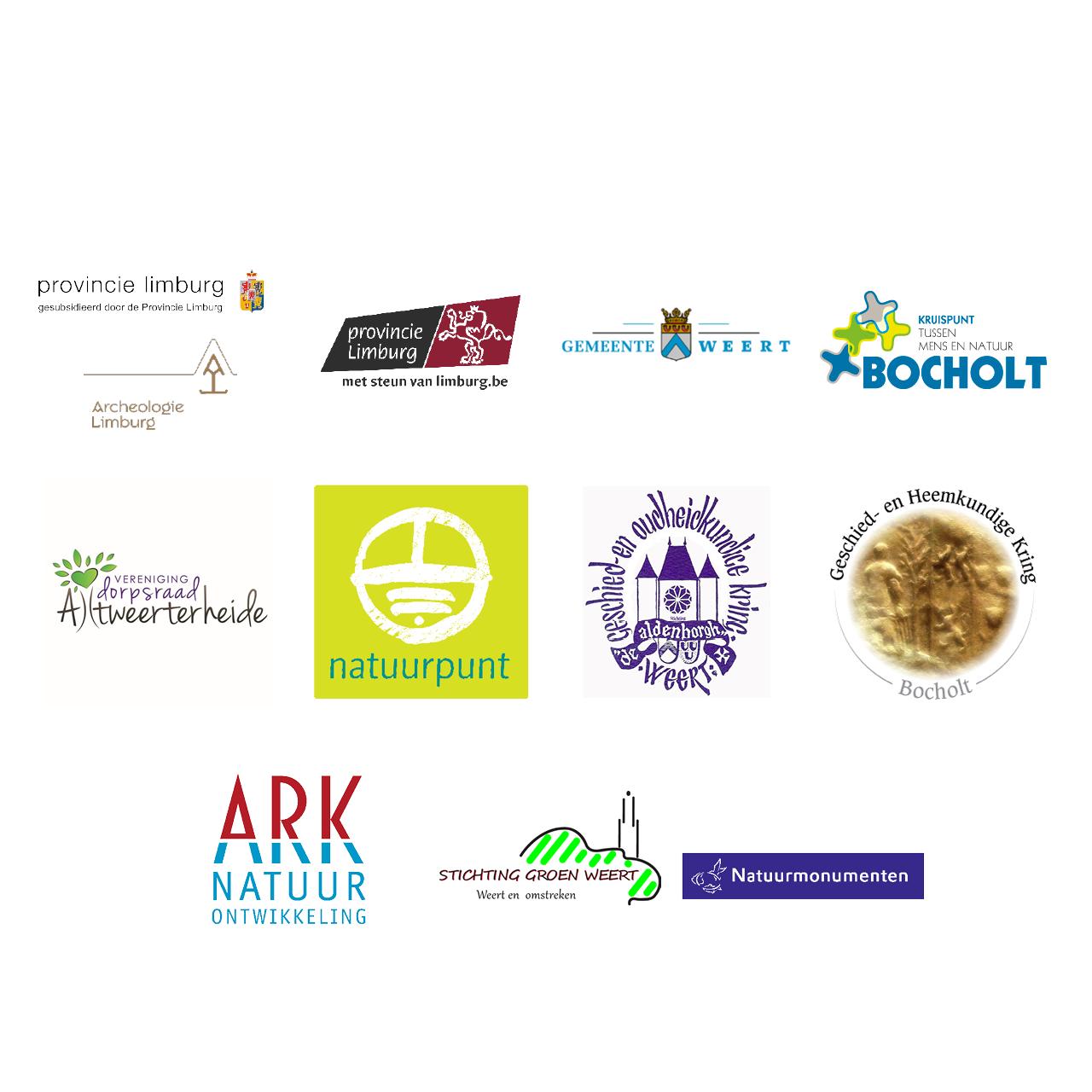 Logo's van de samenwerkende partners aan het project Weerterbeek